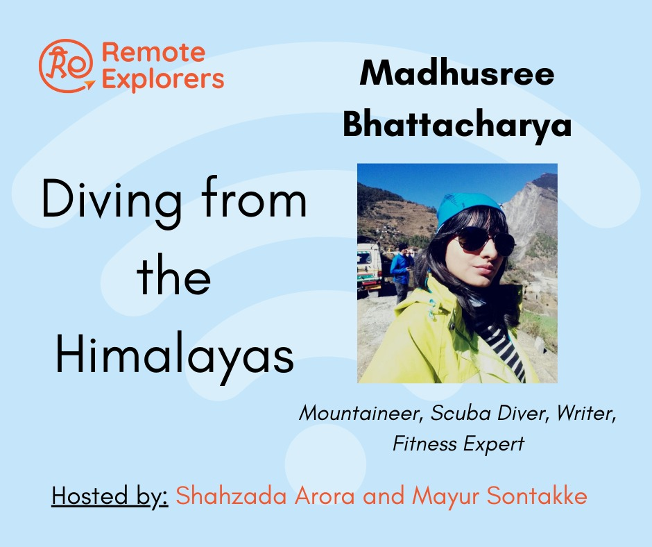 Madhushree: Diving from the Himalayas!